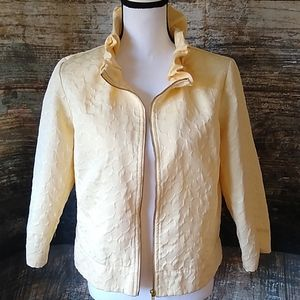 Ruby Rd. pale yellow jacket